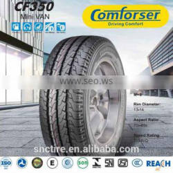 chinese comforser Mini VAN new car tires cf350 with high performance