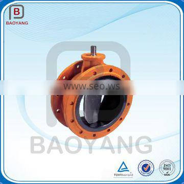 OEM wafter teflon lined butterfly valve,powder coating