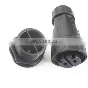 electrical plug and socket watertight 2 pole panel mount connector