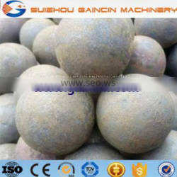 high hardness HRC56 to 65 grinding media mill balls, dia.120mm to 145mm steel forged mill balls