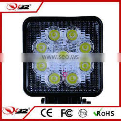 square 27W led offroad light, commercial electric led working light