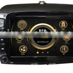 Wince 6.0 dual zone car media for Fiat 500 with GPS/3G/Bluetooth/TV/IPOD/RDS