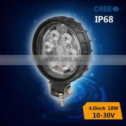 18w 12v led motorcycle driving lights with flood beam