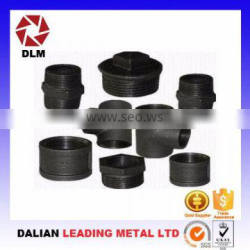 Casting services black malleable iron pipe fittings OEM foundry