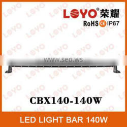 140W SINGLE ROW CURVED LED RIGID BAR LIGHT, 10W OFFROAD LED LIGHT BAR