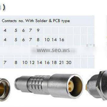 9 pin male and female waterproof connectors