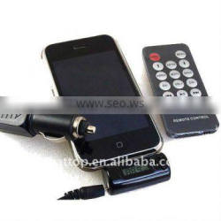 FM transmitter for iPhone 3Gs, iPhone 3G, iPhone, iPod models
