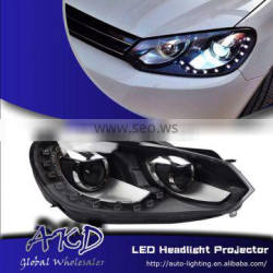 AKD Car Styling for VW Golf 6 LED Headlights A-Type 2009-2012 LED Head Lamp Projector Bi Xenon Hid H7