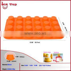 BT0001 Round Shape Cake Moulds Silicone Bakeware Mini Brownies Cake Mo