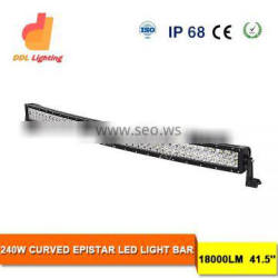 240w car curved led light bar For OFFROAD 4x4 led light bar with whole sale