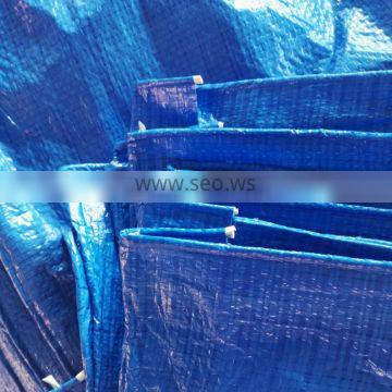 70gsm double blue light duty PE tarp 6FT*8FT plastic sheet for coverage use