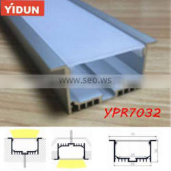 Recessed Linear Flanged LED Aluminium Extrusion Profile with PC/PMMA diffuser