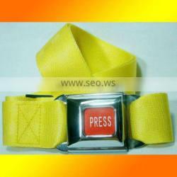 Top classic fashion yellow belt, car buckle style