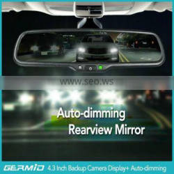 Special auto dimming rear view mirror with electronic dimming glass, rear view camera