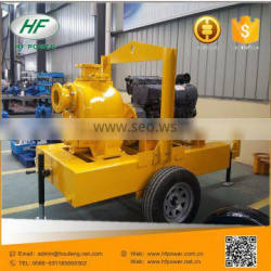 New type industrial self priming centrifugal trash sewage pump with deutz engine
