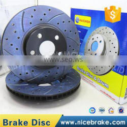 Auto Spare Parts Of China brake discs ,Drilled and Slotted with Dacromet