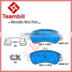 Auto parts for Mercedes X204 disc brake pad 005 420 63 20