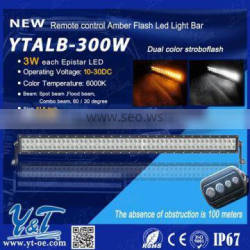 New Product - Outdoor led car lights offroad 300w 4x4 RGB Flash 51.5 inch led light bar