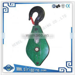 2015 high quality new wire rope double sheave snatch block