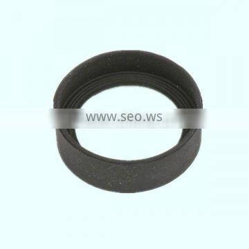 Rubber cover eyeshield grooved round cap