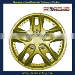 decorative yellow plastic 12inch /13inch /14inch /15inch /16inch hubcaps
