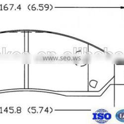 FMSI D1039-7943 OEM standard car brake pads Auto parts Brake Pad better price from Factory