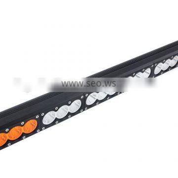 hybrid amber&white mixed beam offroad led light bar 180w with high lumen