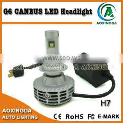 2016 hotsale H7 CANBUS LED headlight 6G fanless all in one new LED headlight