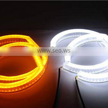 Crystal SMD LED angel eyes for BMW F30 F35 E90 sedan E92 coupe Yellow white LED halo rings angel eyes