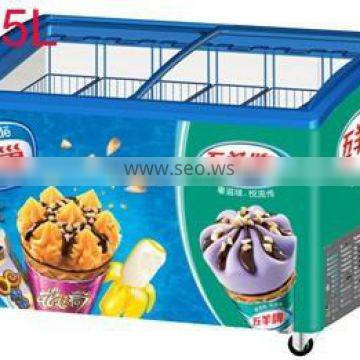 ice cream display freezer for supermarket