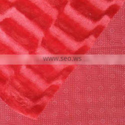 100% Polyester Solid Stripe Embossed Velboa With Plastic Dripping Fabric SJ-KS-JL-1305