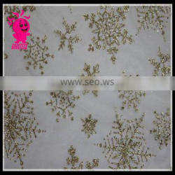 2015 wholesale christmas tulle snow printing soft tulle for christmas