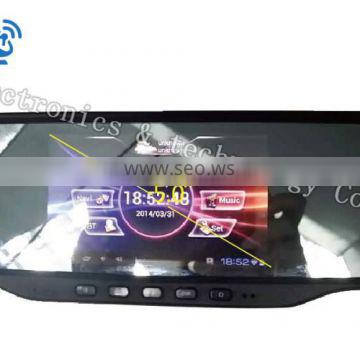 video recorder car rearview mirror , Bluetooth rearview mirror car GPS with DVR