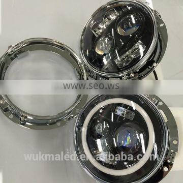 2015 Newest Emark 7inch round high/low beam headlight for Jeep Wrangler CJ TJ JK Harley Hummer Landrover