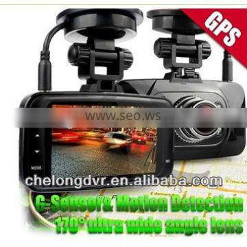 High performance Full HD Car camera with GPS motion detect car dash video camera recorder dvr