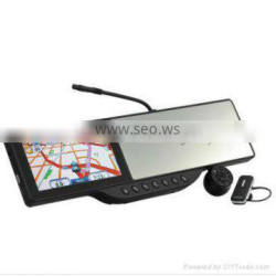 5 inch rearview mirror with gps bluetooth camera DVR