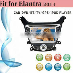2 din car dvd player tv antenna fit for Hyundai Elantra 2014 with radio bluetooth gps tv
