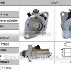 high performance auto starter motor OEM 31200-RAA-A61 for Accord 2.4L inner adjuster 12V 1.6KW CW 9T Lester 17960