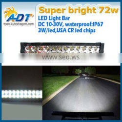 DC10-30V waterproof IP67 72W led light bar worklight