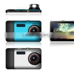 Android 4.4 Quad-core high-speed drive car black box with 5 inch 1080P Full HD capacitive touch screen