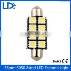 Car light source Festoon 5050 8smd 39mm auto bulbs lights