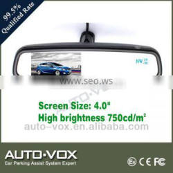 Good price 4 inch car video mirror monitor with Dual temperature sensor and compass