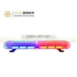 red and blue police ambulance led warning lightbar