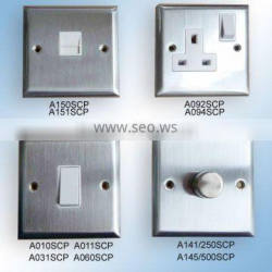 A092 A160 A031 A015 Step Satin Stainless Wall Switch Panels