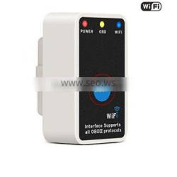 Mini Elm327 WiFi Elm 327 White OBD2 OBD II Diagnostic Tool with Switch Works for iPhone/Ios/Android/Symbian/Windows PC
