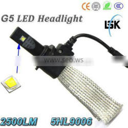 Two years warranty for G5 led headlight 12v-24v 2500lm 9006 moto led headlight