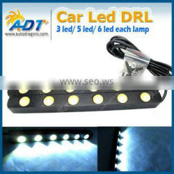 2pcs x White Car Daytime Running Light Head Lamp 6 LED DRL Daylight Kit 12V