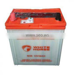 High quality 12V Battery 36AH Dry charged car battery