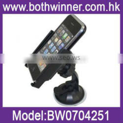 Universal clip head rotating suction cup car holder for smartphone