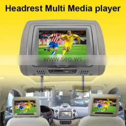 "Universal Car Use 7"" inch Headrest DVD Player Built in FM and IR Transmitter"